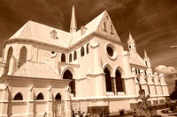 Churches in sepia